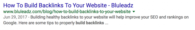 bluleadz backlinks meta description