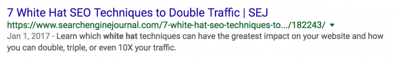 seo whitehat meta description