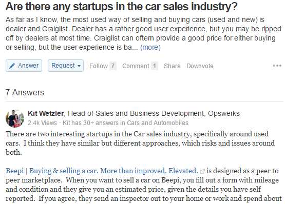 use quora to generate leads